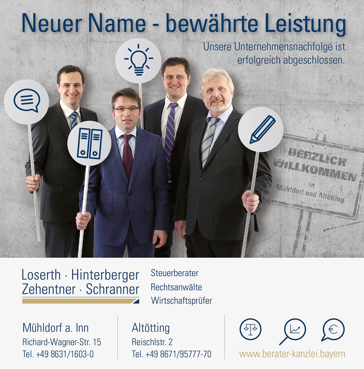 Anzeige Neuer Name Losert Zehentner & Partner