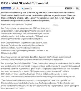 Bericht des OVB online vom 25.09.2014