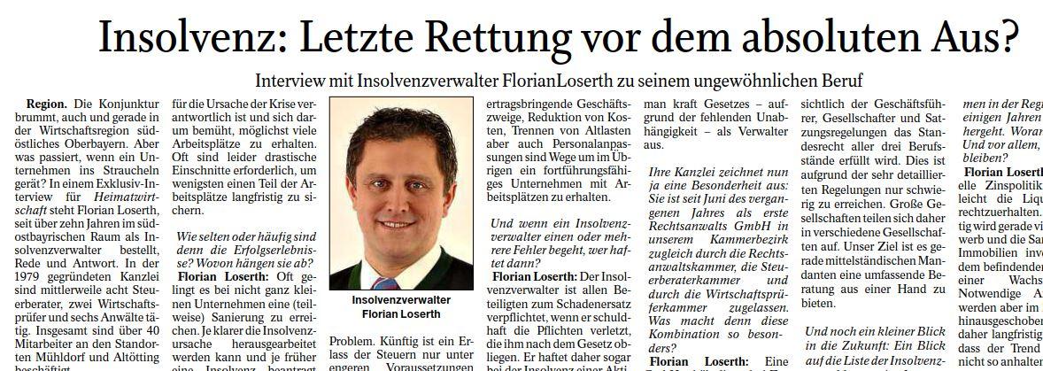 Foto Link Presse Interview Insolvenz